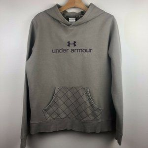 Under Armour Hoodie Sweatshirt L Logo Spell Out